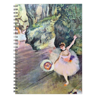 Dancer with a Bouquet of Flowers by Edgar Degas Spiral Notebooks