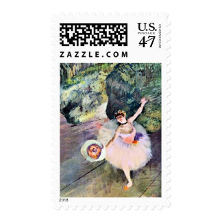 Dancer with a Bouquet of Flowers by Edgar Degas Stamp
