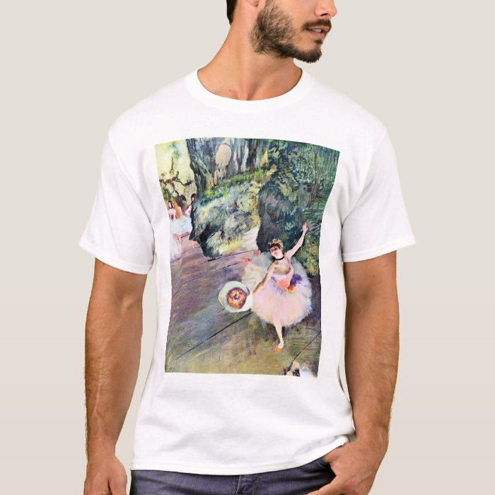 Dancer with a Bouquet of Flowers by Edgar Degas T-Shirt