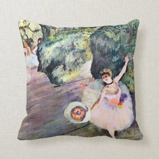 Dancer with a Bouquet of Flowers by Edgar Degas Throw Pillow