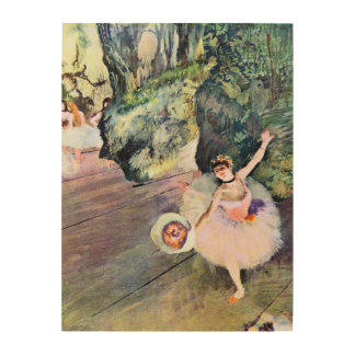 Dancer with a Bouquet of Flowers by Edgar Degas Wood Wall Decor