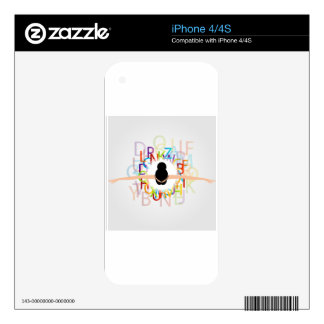 Dancer with alphabets on dress iPhone 4S skin