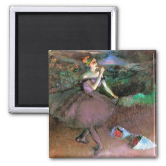 Dancer with Bouquets by Degas Magnet