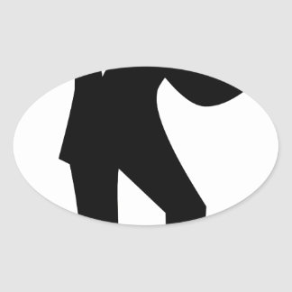 Dancer with Cane Oval Sticker