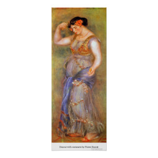 Dancer with castanets by Pierre Renoir Poster