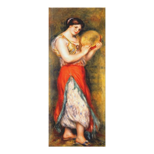 Dancer with Tambourne,  by Pierre-Auguste Renoir Poster