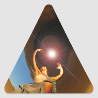 Dancer with the Star Triangle Sticker