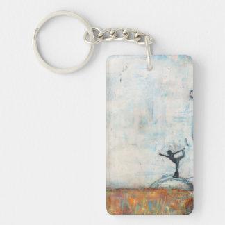 Dancer Yoga Girl (single-sided) Keychain