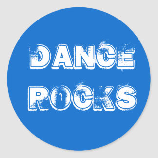 DANCEROCKS CLASSIC ROUND STICKER