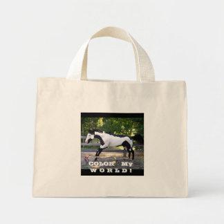 DANCERPAINTEDPIC, ITS a Paint World !, COLOR   ... Mini Tote Bag