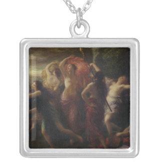 Dancers, 1891 square pendant necklace