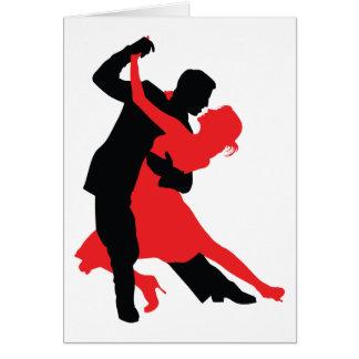 Dancers 1 greeting card