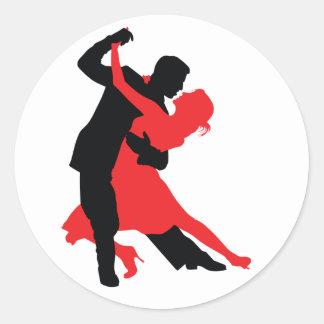 Dancers 1 round sticker