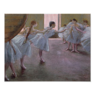 Dancers at Rehearsal 1875-1877 Poster