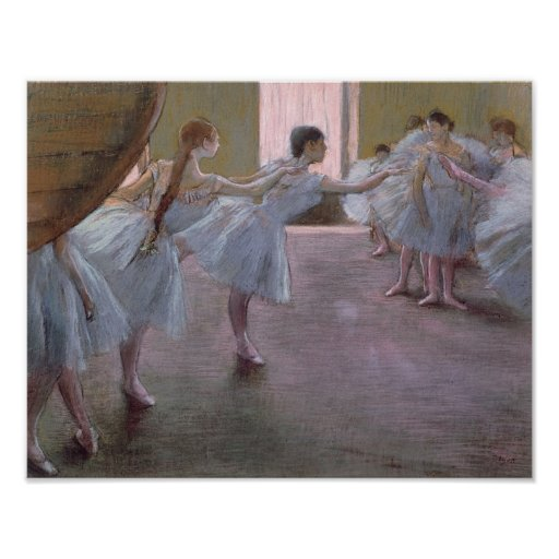 Dancers at Rehearsal, , 1875-1877 Poster