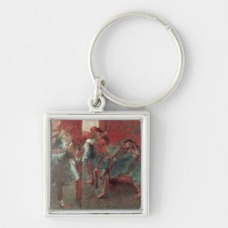 Dancers at Rehearsal, 1895-98 Silver-Colored Square Keychain