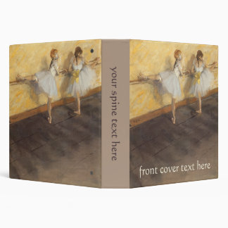 Dancers at the Bar by Edgar Degas, Vintage Ballet Binder