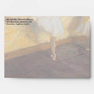 Dancers at the Bar by Edgar Degas, Vintage Ballet Envelope