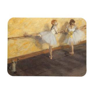 Dancers at the Bar by Edgar Degas, Vintage Ballet Magnet