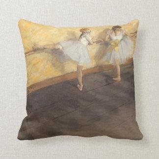 Dancers at the Bar by Edgar Degas, Vintage Ballet Pillow