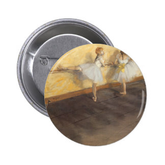 Dancers at the Bar by Edgar Degas, Vintage Ballet Pinback Button