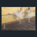 "Dancers at the Bar by Edgar Degas, Vintage Ballet Placemat<br><div class=""desc"">Dancers Practicing at the Barre (1877) by Edgar Degas is a vintage impressionist fine art painting featuring two girl ballerinas. The ballet dancers are rehearsing, stretching and dancing at the bar before their ballet dance recital. About the artist: Edgar Degas (1834-1917) is regarded as one of the founders of Impressionism...</div>"