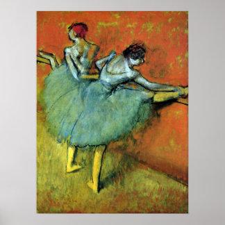 Dancers at the Bar by Edgar Degas, Vintage Ballet Poster
