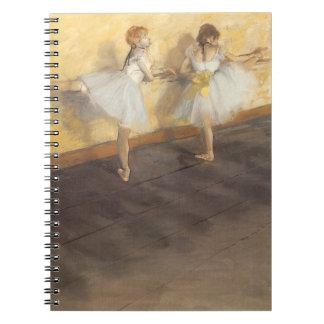 Dancers at the Bar by Edgar Degas, Vintage Ballet Spiral Notebook
