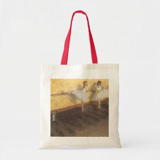 Dancers at the Bar by Edgar Degas, Vintage Ballet Tote Bag