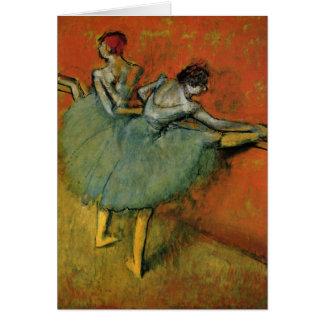 Dancers At The Bar by Edgar Germain Hilaire Degas Card