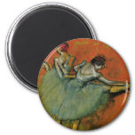 Dancers At The Bar by Edgar Germain Hilaire Degas Fridge Magnets