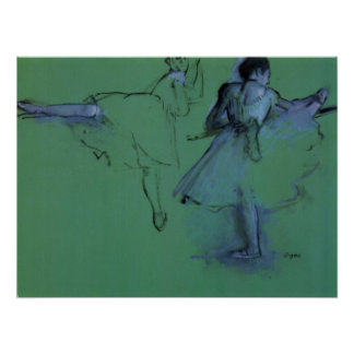 Dancers at the Barre by Edgar Degas, Ballet Art Poster