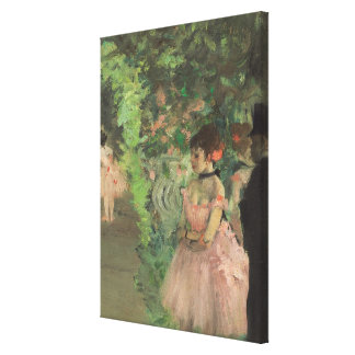 Dancers Backstage, 1876-1883 (oil on canvas) Canvas Print