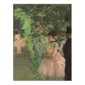 Dancers Backstage, 1876-1883 (oil on canvas) Postcard
