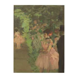 Dancers Backstage, 1876-1883 (oil on canvas) Wood Wall Decor