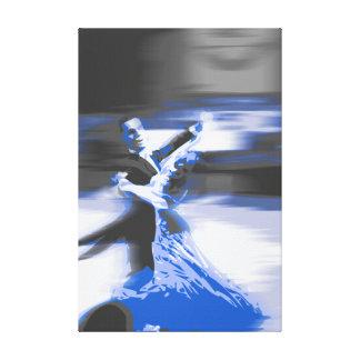 dancers blue canvas prints