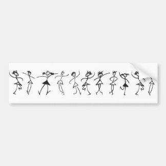 dancers bumper sticker