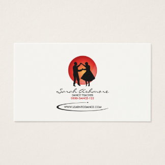 Dancers Business Card (Red Backdrop)