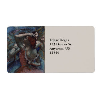Dancers by Edgar Degas Label