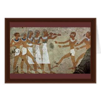 Dancers By Maler Der Grabkammer Des Antefoker (Bes Card