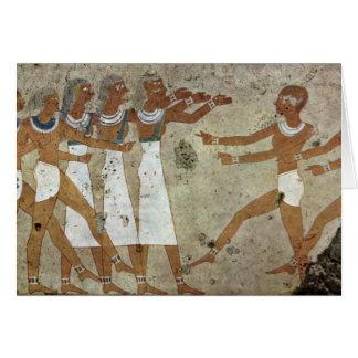 Dancers By Maler Der Grabkammer Des Antefoker (Bes Greeting Card