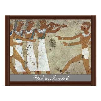 Dancers By Maler Der Grabkammer Des Antefoker (Bes Custom Announcement