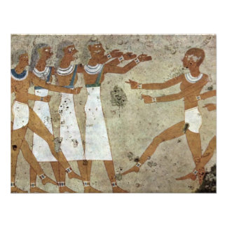 Dancers By Maler Der Grabkammer Des Antefoker (Bes Invites