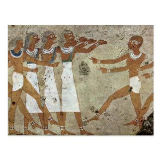 Dancers By Maler Der Grabkammer Des Antefoker (Bes Postcards