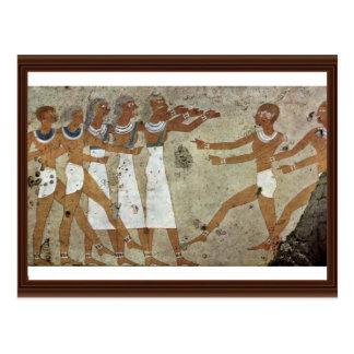 Dancers By Maler Der Grabkammer Des Antefoker (Bes Postcard