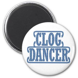 Dancers Clogging Swirls Dancer Blue Clog Fan Magnet
