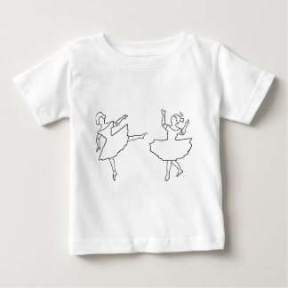 Dancers Cutout Illustration Baby T-Shirt