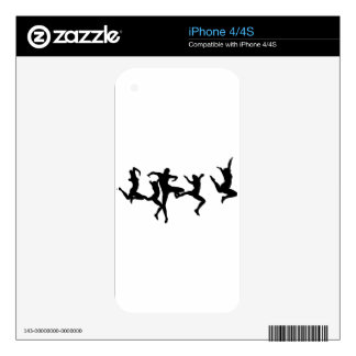 DANCERS DECALS FOR iPhone 4S