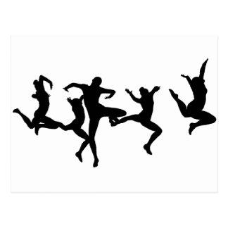 DANCERS FIVE POSTCARD