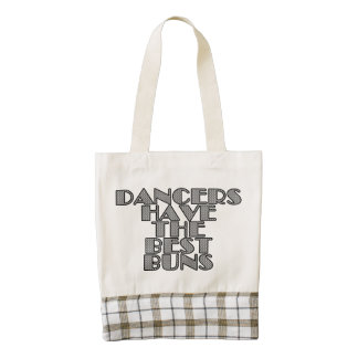 Dancers have the best buns zazzle HEART tote bag